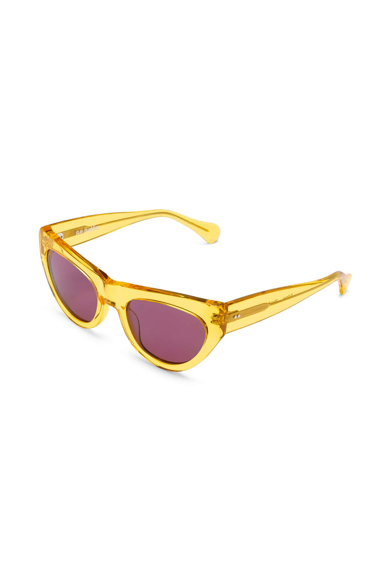 Manifesto Shop Sun Buddies Edgar Clear Yellow Sunglasses Tinted Lens Side View