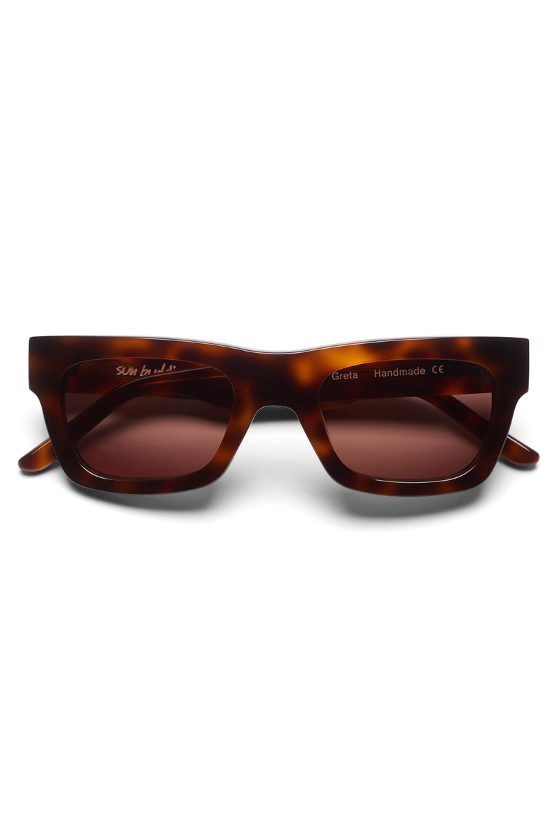 Manifesto Shop Sun Buddies Greta Tortoise Sunglasses Strong Brow Accent Tinted Lens Front View
