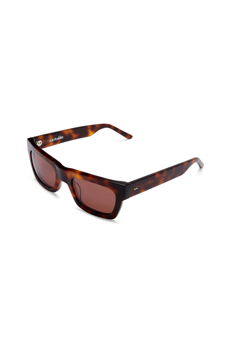 Manifesto Shop Sun Buddies Greta Tortoise Sunglasses Strong Brow Accent Tinted Lens Side View