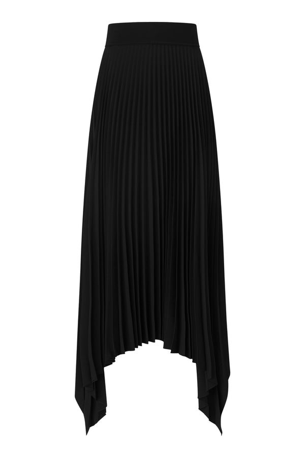 Black Ade Plisse Skirt
