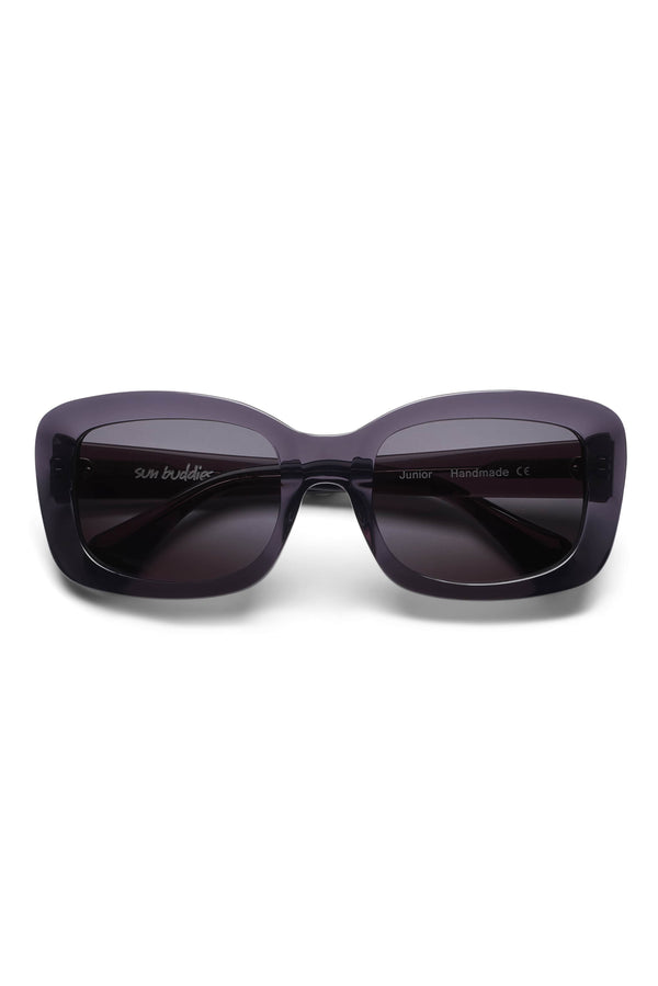 Manifesto Shop Sun Buddies Junior Grey Sunglasses Rounded Rectangular Frame Tinted Lens Front View