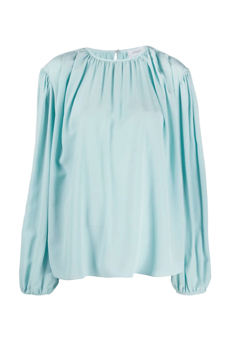 Blue Top With Pleats