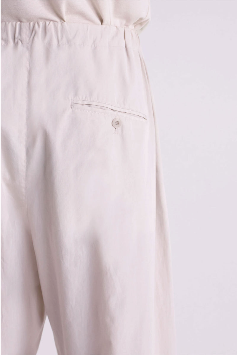 Ice Grey Pleated Drawstring Pants