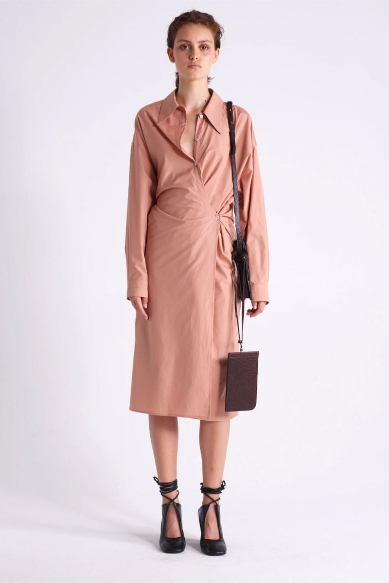 Camel New Twisted Dress