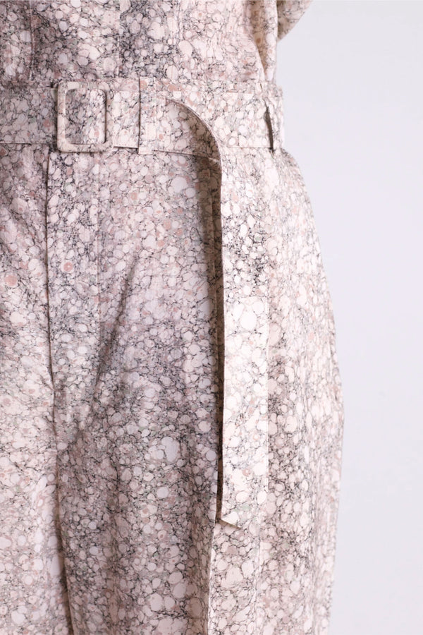 Printed Chalk Pleated Pants