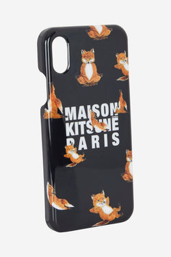 Black Yoga Fox Iphone Case