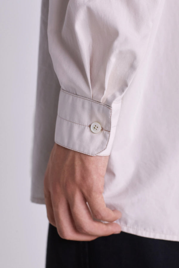 Ice Grey Straight Collar Shirt