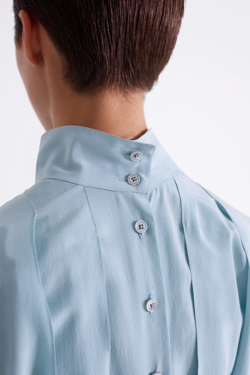 Pleated Blue Shirt