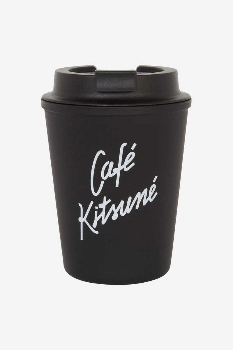 White Cafe Kitsune Coffee Tumbler