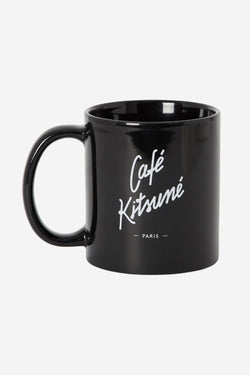 Black Cafe Kitsune Mug