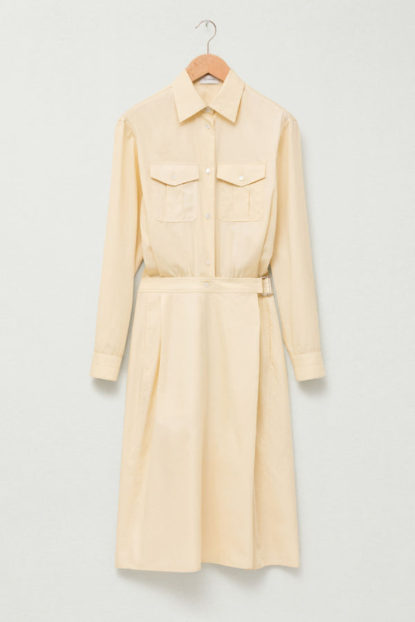 Cream 2 Pockets Dress