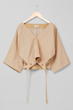 Blond Beige Vareuse Top