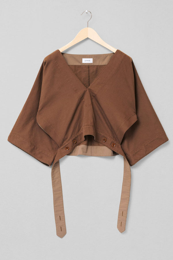 Hazelnut Brown Vareuse Top