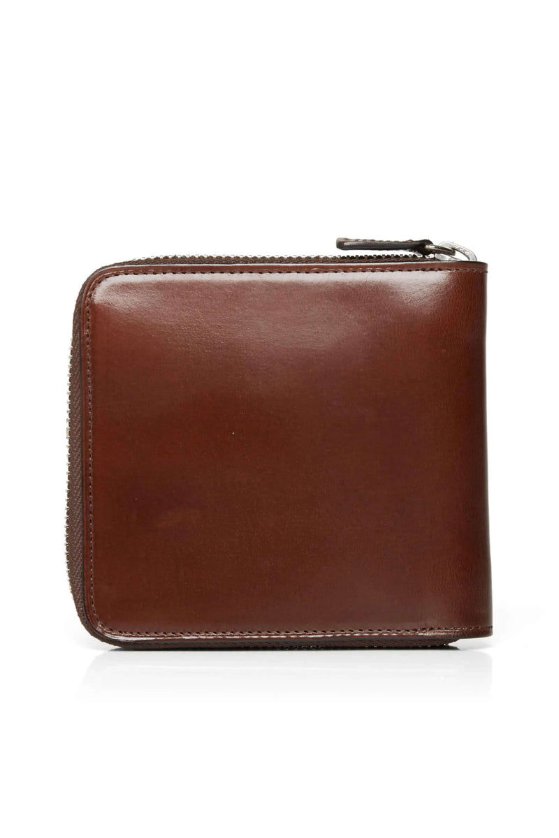 Brown Bi-fold wallet Zip