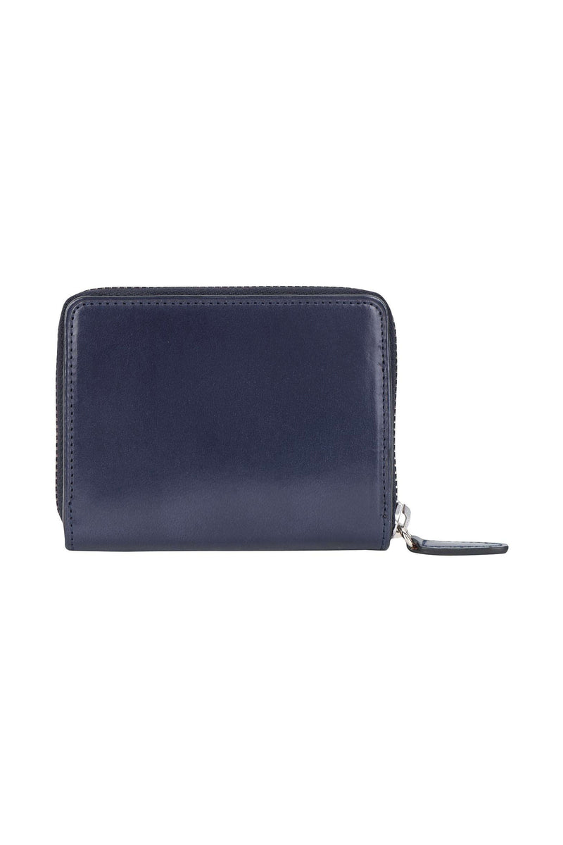 Navy Small Zip Wallet
