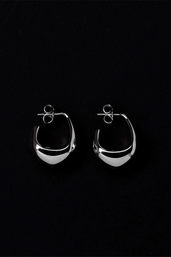 Silver Short Drop Earrings