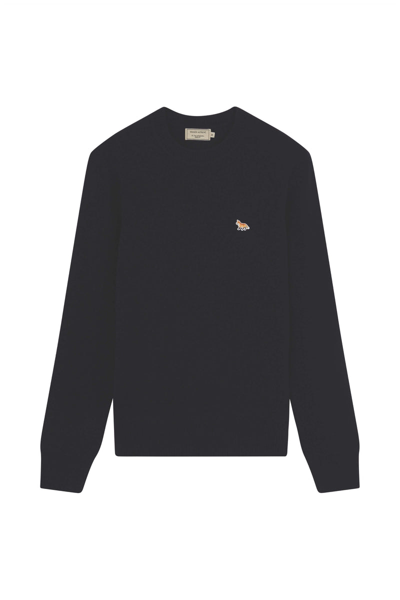 Black Profile Fox Lambswool Pullover