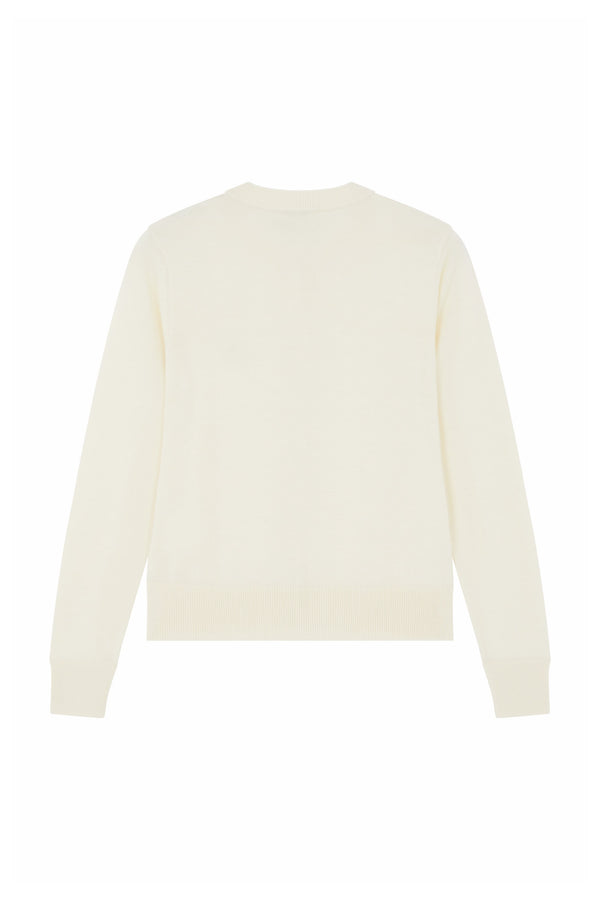 Off White Fox Head Merinos Cardigan