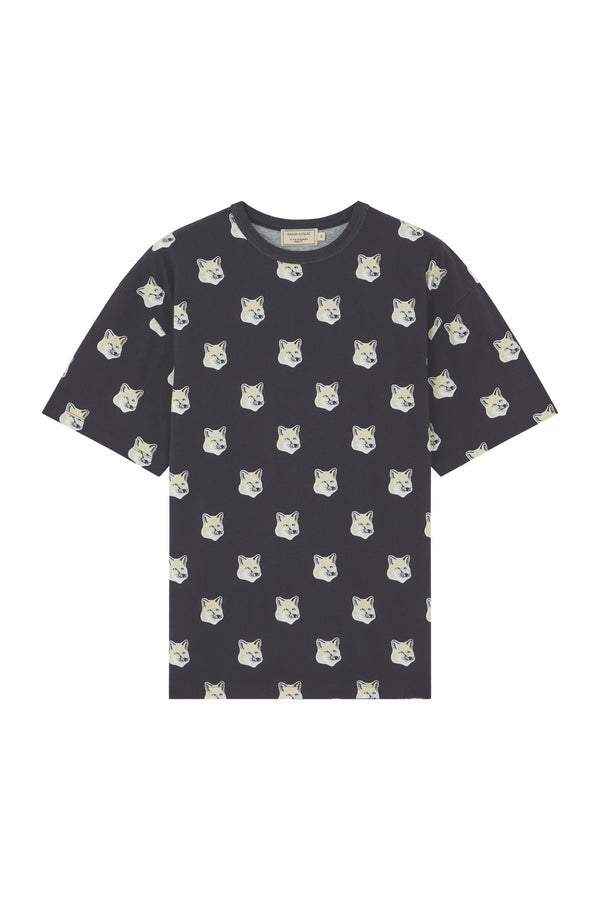 Black All-Over Pastel Foxhead Tshirt