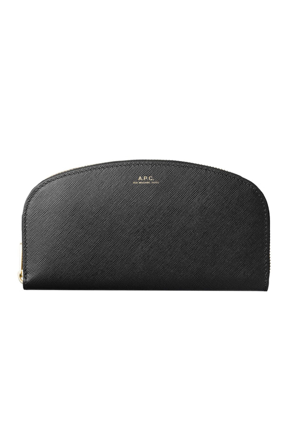 Black Saffiano Half-moon Wallet