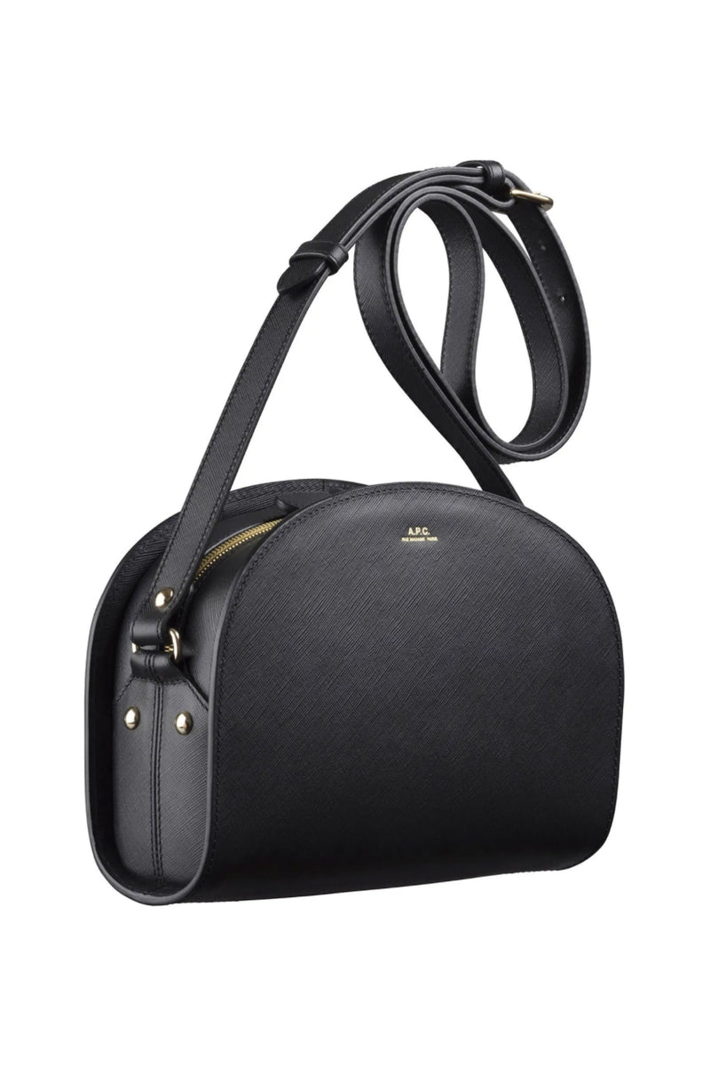 Black Saffiano Half-moon Bag