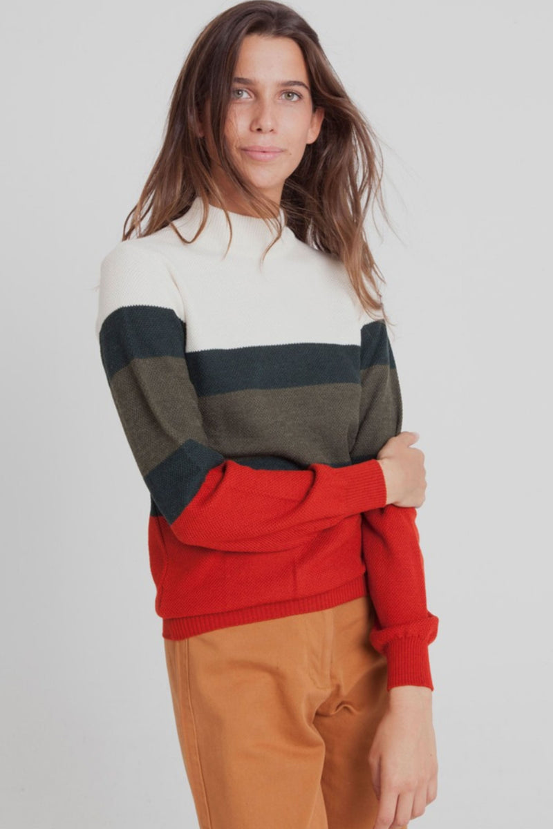 Ecru Turtle Neck Sweater