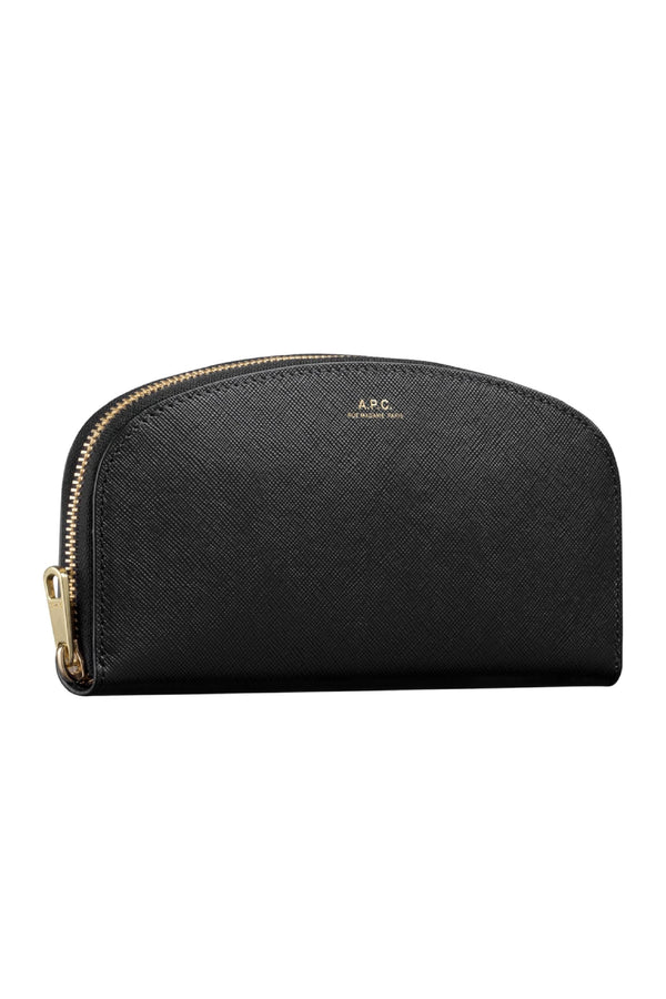 Black Saffiano Halfmoon Long Wallet