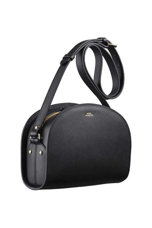 Black Saffiano Mini Halfmoon Bag