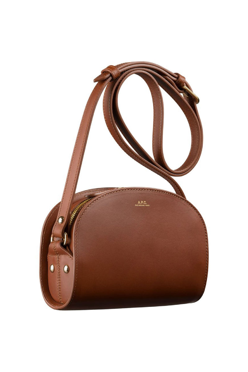 Nut Brown Mini Halfmoon Bag