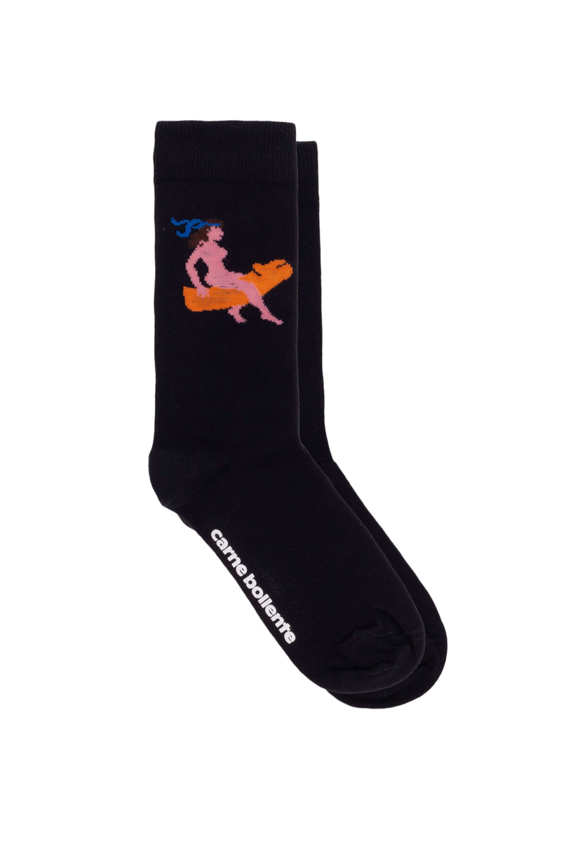Black Sofia Ejacula Socks
