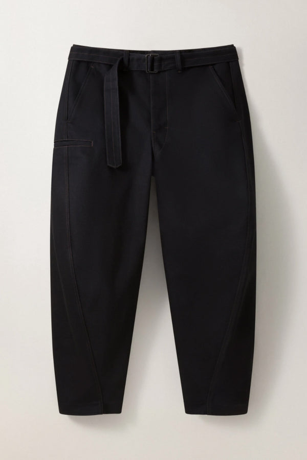 Black Denim Twisted Pants