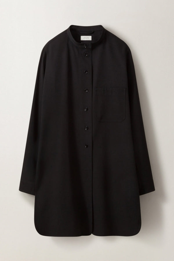 Black Long Overshirt