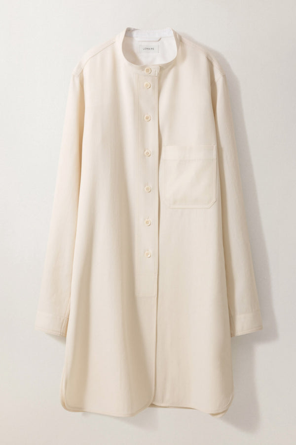 Milk Long Overshirt