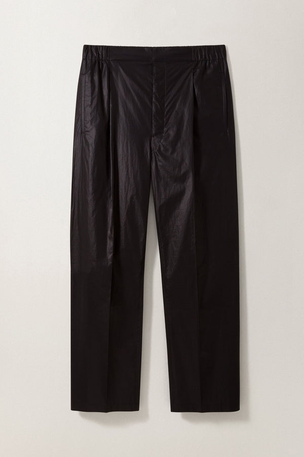 Pleated Drawstring Pants Black