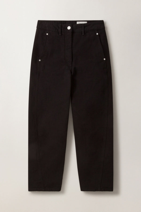 W Black Denim Twisted Pants