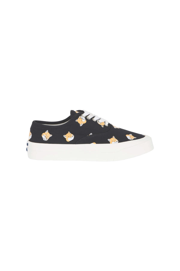 W Black All Over Foxhead Sneakers