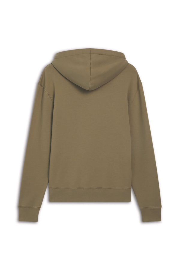 Light Khaki Fox Head Hoodie Pullover