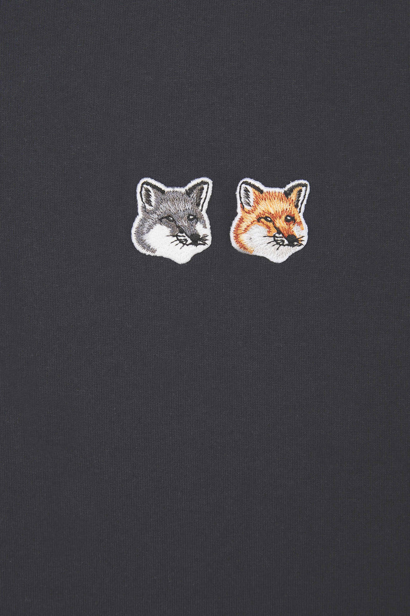 Anthracite Double Fox Head Tshirt