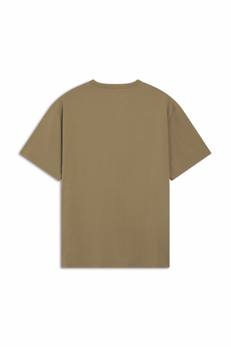 Light Khaki Flower Fox Tshirt