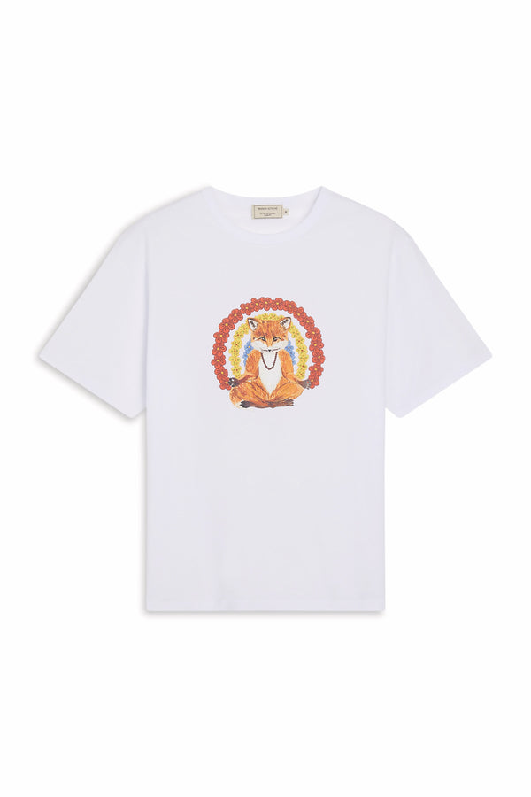 White Flower Fox Tshirt