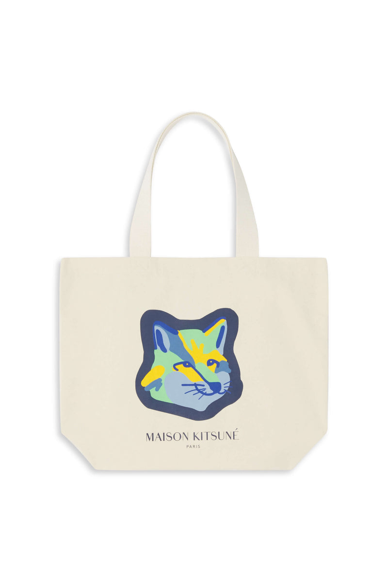 Neon Fox Head Totebag