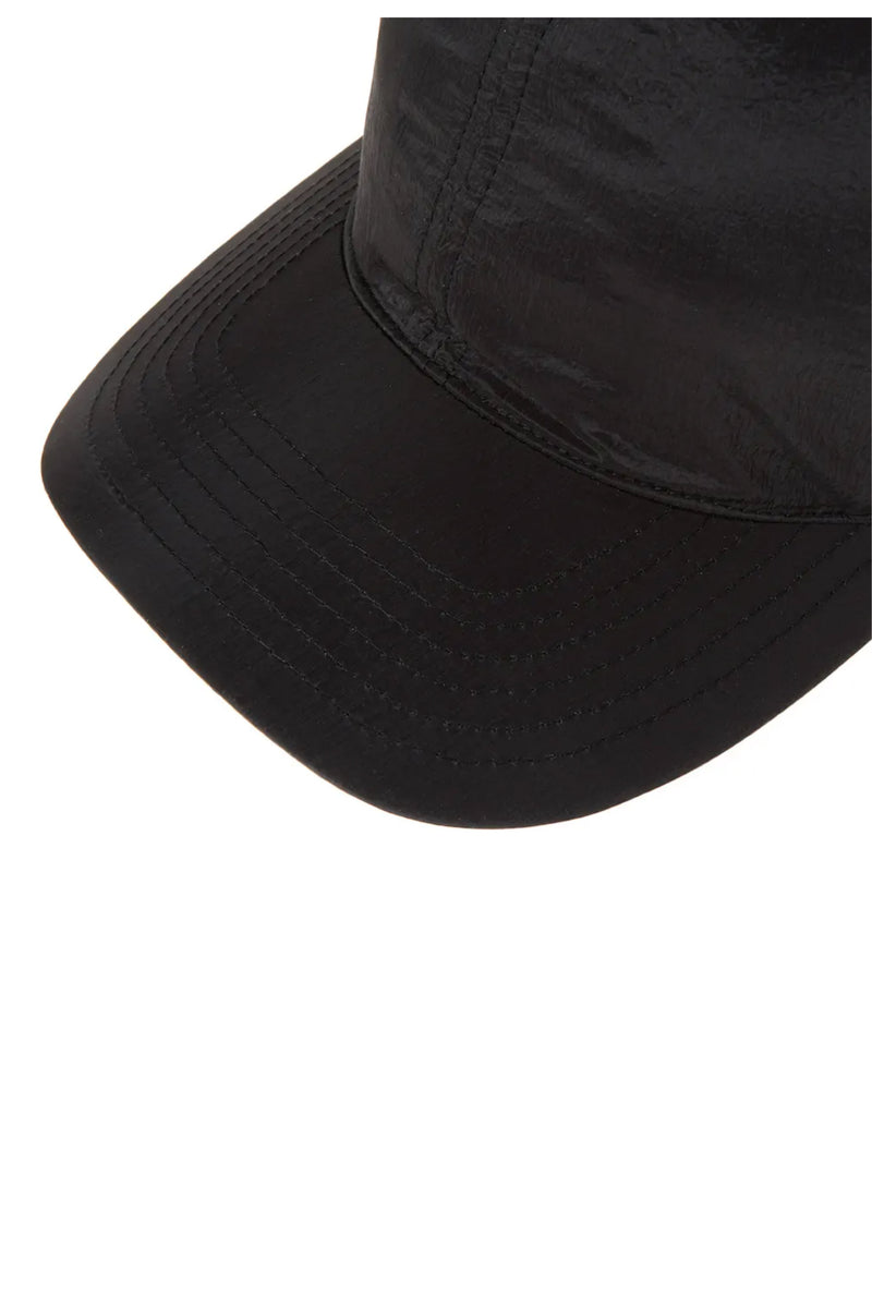 Black Cotton/Nylon Ball cap