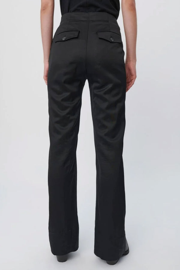 Black Glossy Sharp Trouser