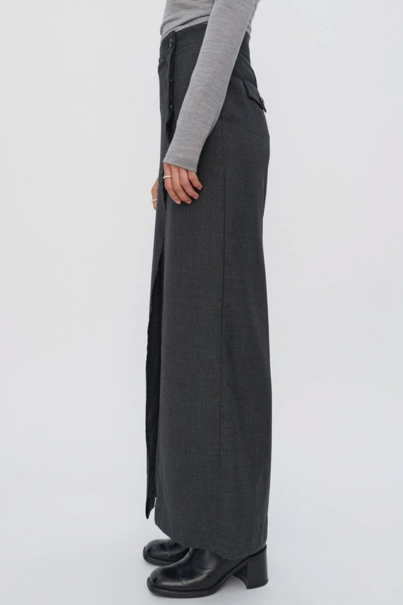 Charcoal Suiting Skirt