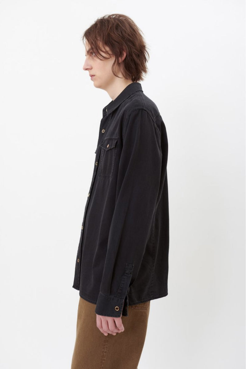 Black Denim Frontier Shirt