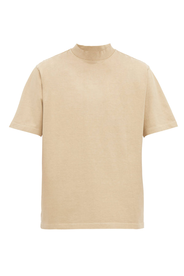 Taupe Mock Neck Tshirt