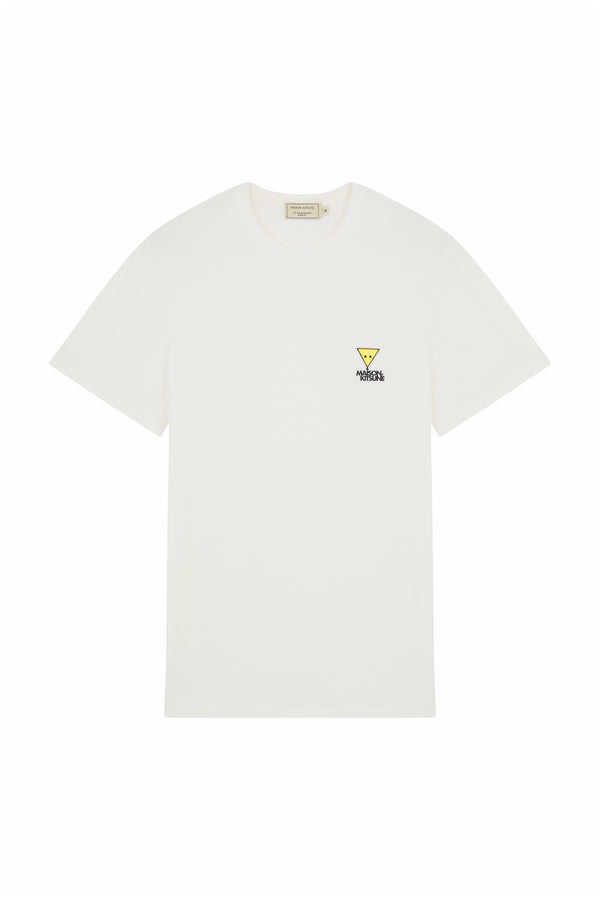 White Triangle Fox Patch Tshirt