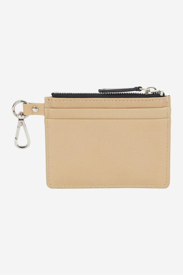Beige Chillax Fox Zipped Cardholder