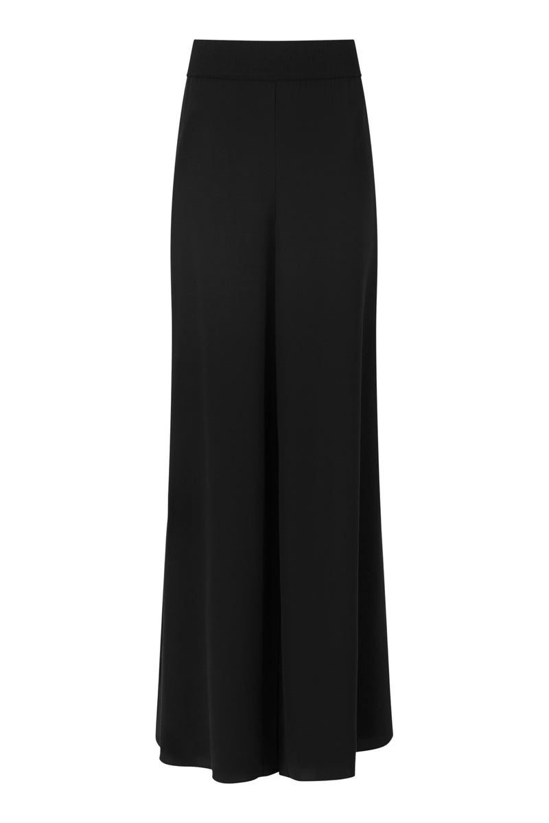 Black Huland Crepe Trousers