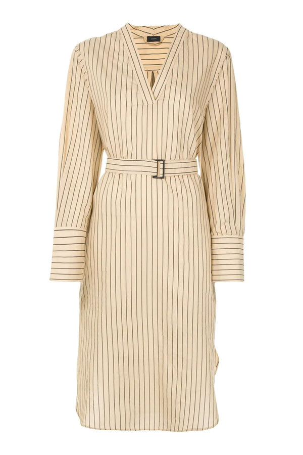 Janis Stripe Belted Dress